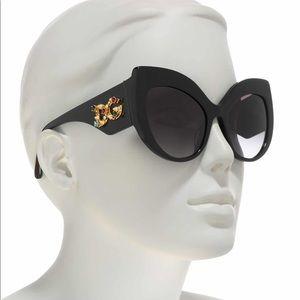 Dolce and Gabbana Jeweled Cat-eye Sunglasses